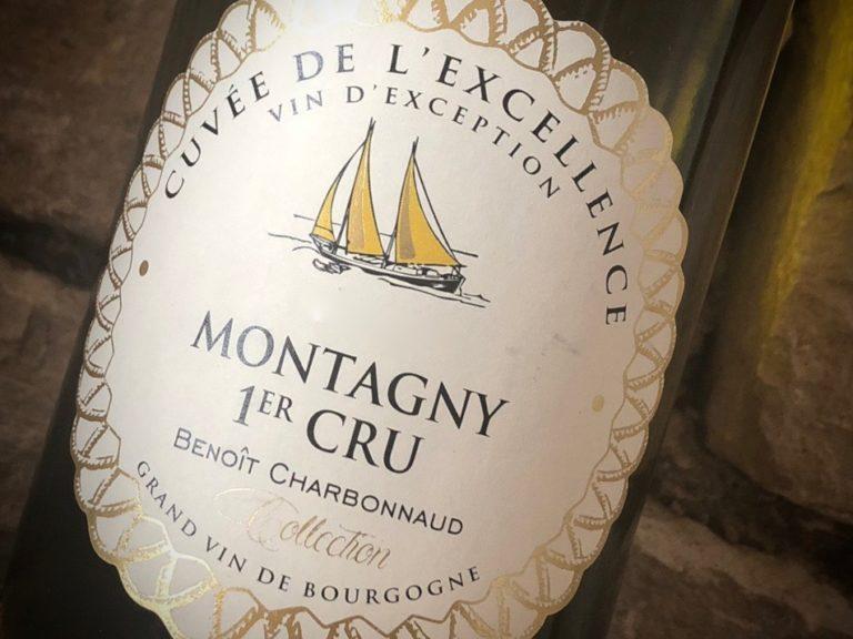 vin de Bourgogne Domaine Excellence Chardonnay Montagny 1er cru vin blanc Benoit Charbonnaud Rully